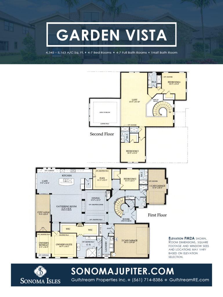Sonoma Isles Jupiter Floor Plans